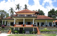 The colonial villa frontview