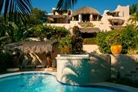 ocean facing side ov villa