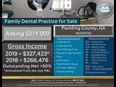 Family Dental Practice In Atlanta Area For Sale